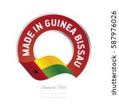 made in guinea bissau flag red... | Shutterstock .eps vector #587976026