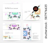 memphis geometric background...   Shutterstock .eps vector #587976635
