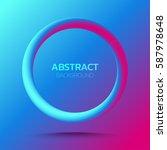 3d abstract circle figure...   Shutterstock .eps vector #587978648