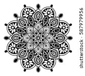 mandalas for coloring book.... | Shutterstock .eps vector #587979956