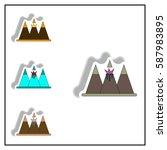 sticker collection vector... | Shutterstock .eps vector #587983895