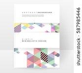 memphis geometric background... | Shutterstock .eps vector #587985446