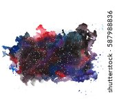 watercolor stain  hand drawn ... | Shutterstock . vector #587988836