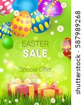 easter sale shopping special... | Shutterstock .eps vector #587989268