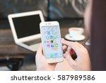 bangkok  thailand   january... | Shutterstock . vector #587989586