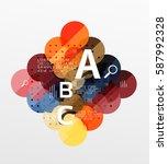 vector circle banner. vector... | Shutterstock .eps vector #587992328