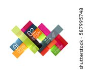 abstract vector business... | Shutterstock .eps vector #587995748