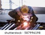 steel welding or welder...   Shutterstock . vector #587996198