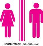 toilet man women pink | Shutterstock .eps vector #588003362
