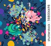 floral seamless pattern | Shutterstock .eps vector #588006698