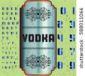 vodka font script typeface ... | Shutterstock .eps vector #588011066