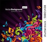3d Colorful Music Background...