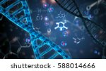 double helix dna abstract... | Shutterstock . vector #588014666