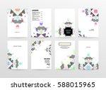 memphis geometric background... | Shutterstock .eps vector #588015965