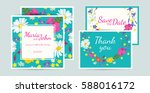 wedding invitation card suite... | Shutterstock .eps vector #588016172