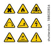 danger sign pack | Shutterstock .eps vector #588020816
