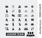 leadership icons | Shutterstock .eps vector #588024635