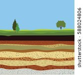 soil formation and soil... | Shutterstock .eps vector #588024806