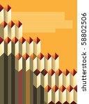 rhombus on a orange background... | Shutterstock . vector #58802506