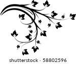 decorative branch. | Shutterstock .eps vector #58802596
