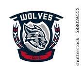 colourful emblem  logo  sticker ... | Shutterstock .eps vector #588026552