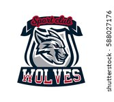 colourful emblem  logo  sticker ...   Shutterstock .eps vector #588027176