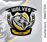 colourful emblem  logo  sticker ...   Shutterstock .eps vector #588027356