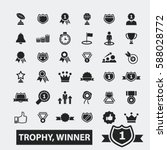 trophy winner icons   Shutterstock .eps vector #588028772