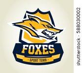 colorful logo  emblem  mascot ... | Shutterstock .eps vector #588030002