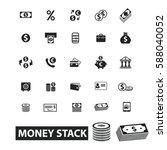 money stack icons | Shutterstock .eps vector #588040052