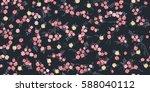 elegant gentle trendy pattern... | Shutterstock .eps vector #588040112