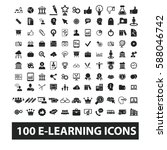 learning icons | Shutterstock .eps vector #588046742