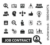 job contract icons | Shutterstock .eps vector #588046976
