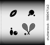 sport equipment icon.   Shutterstock .eps vector #588047162