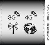 3g  4g symbols. mobile... | Shutterstock .eps vector #588047192