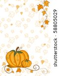 thanksgiving greeting card  ... | Shutterstock .eps vector #58805029