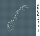 map of norway   Shutterstock .eps vector #588052736