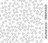 black and white retro pattern... | Shutterstock .eps vector #588054305