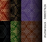 set of abstract seamless... | Shutterstock .eps vector #588057626