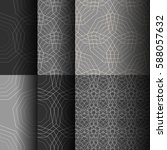 set of abstract seamless... | Shutterstock .eps vector #588057632