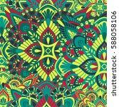 mandala vector ornament.... | Shutterstock .eps vector #588058106