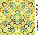 mandala vector ornament.... | Shutterstock .eps vector #588058142