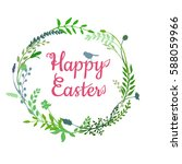 a vector illustration  a happy... | Shutterstock .eps vector #588059966