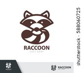 raccoon symbol icon design... | Shutterstock .eps vector #588060725