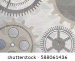 vector illustration of gear... | Shutterstock .eps vector #588061436