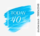 sale today 40  off sign over...   Shutterstock .eps vector #588062048