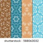 seamless ornamental pattern set.... | Shutterstock .eps vector #588063032