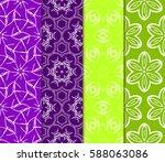 seamless ornamental pattern set.... | Shutterstock .eps vector #588063086