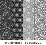 set of modern floral pattern of ... | Shutterstock .eps vector #588065222