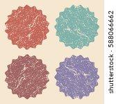 set of retro vintage colorful... | Shutterstock .eps vector #588066662